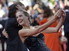 Petra N�mcov� na premi��e filmu Two Days One Night (Cannes, 20. kv�tna 2014)