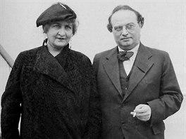 Franz Werfel s manželkou Almou Mahlerovou