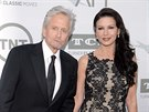 Michael Douglas a Catherine Zeta-Jonesov� (Los Angeles, 5. �ervna 2014)