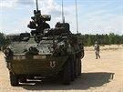 Americké obrněnce na cvičení Sabre Strike v Pobaltí