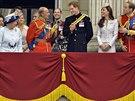 Britská královská rodina (Londýn, 14. června 2014)