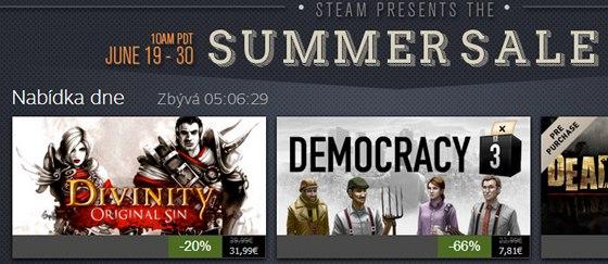 Obrázek z letních slevových akcí na Steamu. Řadu her v kamenných obchodech vůbec neobjevíte.