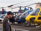 """Velmi zajímavé byly kontrasty. Na show se předvedl ultralehký vrtulník Compres CH7, tedy jednomístný """"kolibřík"""", ale i sedm tun těžký Mi 17, který hravě přepraví 25 lidí."""