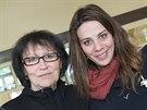 Marta Kubi�ov� a Aneta Langerov� ve filmu Magick� hlas rebelky