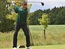 Golfista Roman �ebrle na dom�c�m �ampion�tu v Tel�i