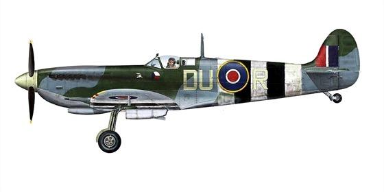 Supermarine Spitfire LF Mk.IXC, na stroji DU-R havaroval 11. června 1944 při návratu z hlídkového letu nad Normandií F/Lt František Truhlář, příslušník 312. čs. stíhací perutě.