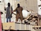 Přehlídka džihádistů z ISIL v syrském městě Rakká (3. června 2014)