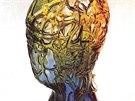 T�m�� �edes�ticentimetrov� foukan� sklen�n� plastika Hlava (1977) od v�tvarn�ka Ren�ho Roub��ka je um�st�n� ve sb�rce Um�leckopr�myslov�ho muzea v Praze.