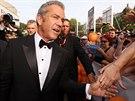 Herec Mel Gibson se zdraví s fanoušky (4. července 2014).