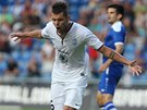 Michal Ďuriš z Mladé Boleslavi se raduje z gólu v utkání druhého předkola Evropské ligy proti bosenskému celku Široki Brijeg.