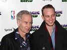 John McEnroe a jeho syn Kevin  (New York, 11. dubna 2012)