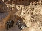Vstup do palestinského tunelu (25. července 2014).