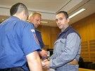 David Berdych při jednání Obvodního soud pro Prahu 6, který by měl rozhodnout o jeho podmínečném propuštění. (29. července 2014)