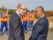 Premiér Bohuslav Sobotka zahájil dostavbu úseku dálnice D11 z Osi�ek k Bláhovce...