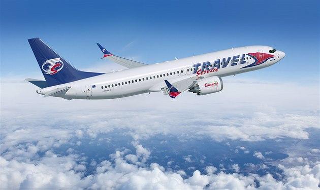 Boeing 737 MAX v barvách Travel Service