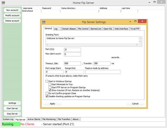 Home FTP server