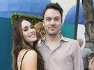 Megan Foxov� a jej� man�el Brian Austin Green na premi��e filmu �elvy Ninja (Los Angeles, 3. srpna 2014)