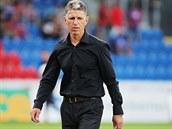Jabolencký trenér Jaroslav Šilhavý zřejmě nebyl s výkonem mužstva proti Plzni spokojen.