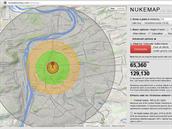 """Výbuch """"Little Boye"""" nad Prahou by zabil 65 tisíc lidí, zraněno by bylo minimálně dalších 129 tisíc obyvatel."""