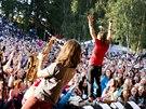 Kapela Kry�tof na festivalu Kry�tof Kemp ve Svoj�ic�ch (16. srpna 2014)