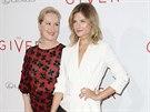 Meryl Streepová se na premiéře filmu Dárce pochlubila nejmladší dcerou Louisou Gummerovou.