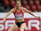 Překážkářka Denisa Rosolová vyhrála na atletickém ME v Curychu s přehledem svůj rozběh.