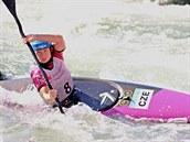 �t�p�nka Hilgertov� ve fin�le Sv�tov�ho poh�ru ve vodn�m slalomu v Augsburgu druh� m�sto