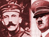 Adolf Hitler nosil za první světové války velký knír. Přišel o něj kvůli plynové masce.