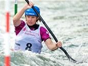 Kajakářka Štěpánka Hilgertová obsadila ve finále Světového poháru ve vodním slalomu v Augsburgu druhé místo.