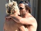 Pamela Andersonová a Rick Salomon dva týdny po podání žádosti o rozvod.