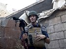 James Foley v syrsk�m Aleppu v listopadu 2012.