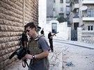 James Foley v syrském Aleppu v listopadu 2012.