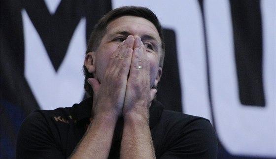 Zoufalý trenér Brna Andrej Titkov.