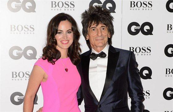 Ronnie Wood a jeho manželka Sally (Londýn, 2. září 2014)