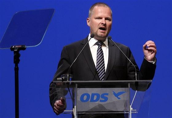 Petr Fiala na kongresu ODS (5. 9. 2014).