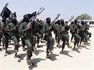 Bojovníci hnutí al-Šabáb na snímku z roku 2008
