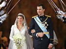 Letizia Ortizová a španělský korunní princ Felipe měli svatbu v Madridu 22. května 2004.