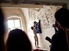 Prostor dostali v bývalé vojenské nemocnici v Jaroměři-Josefově alternativní umělci. (13. 9. 2014)