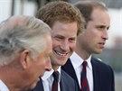 Princ Charles a jeho synové Harry a William (Londýn, 10. září 2014)