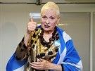 Vivienne Westwoodová podporuje samostatnost Skotska (Londýn, 14. září 2014).