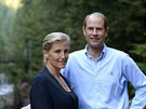 Princ Edward a jeho man�elka Sophie, hrab�nka z Wessexu (North Vancouver, 14. z��� 2014)