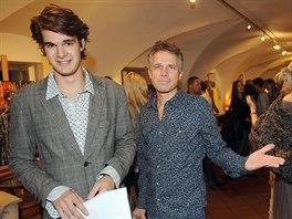 Janek Ledeck� se synem