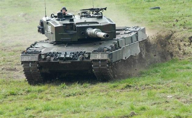 Tank Leopard 2 polské armády Dnech NATO v Ostravě
