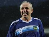 Ladislav Vízek se při slavnostním otevření stadionu v Ústí báječně bavil.