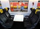 Nové vagóny Astra společnosti RegioJet vyrobené v Rumunsku jsou vybaveny dotykovým monitorem v každé sedačce.