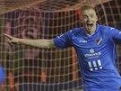 Michal Frydrych z Ostravy se raduje ze svého gólu proti Slovácku.