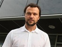 Tomáš Ujfaluši před jednáním na olomoucké radnici.