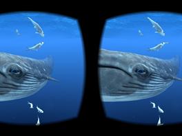 Aplikace podvodn�ho virtu�ln�ho sv�ta na Samsung Gear VR.