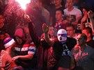 Srbští fanoušci během fotbalového utkání s Albánií (14. října 2014).