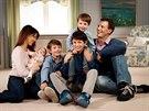 Dánský princ Joachim, princezna Marie a děti Athena, Felix, Henrik a Nikolai (2012)